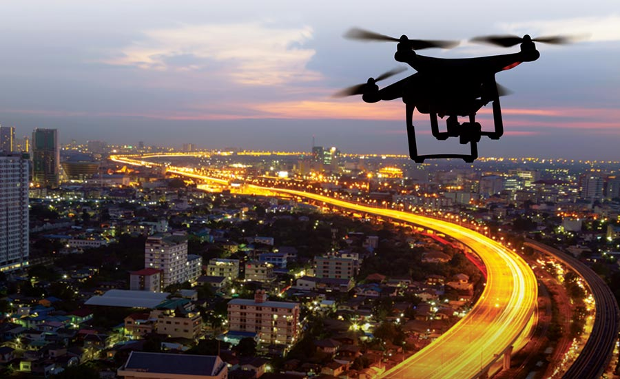 Drone use in monitoring and surveillance services